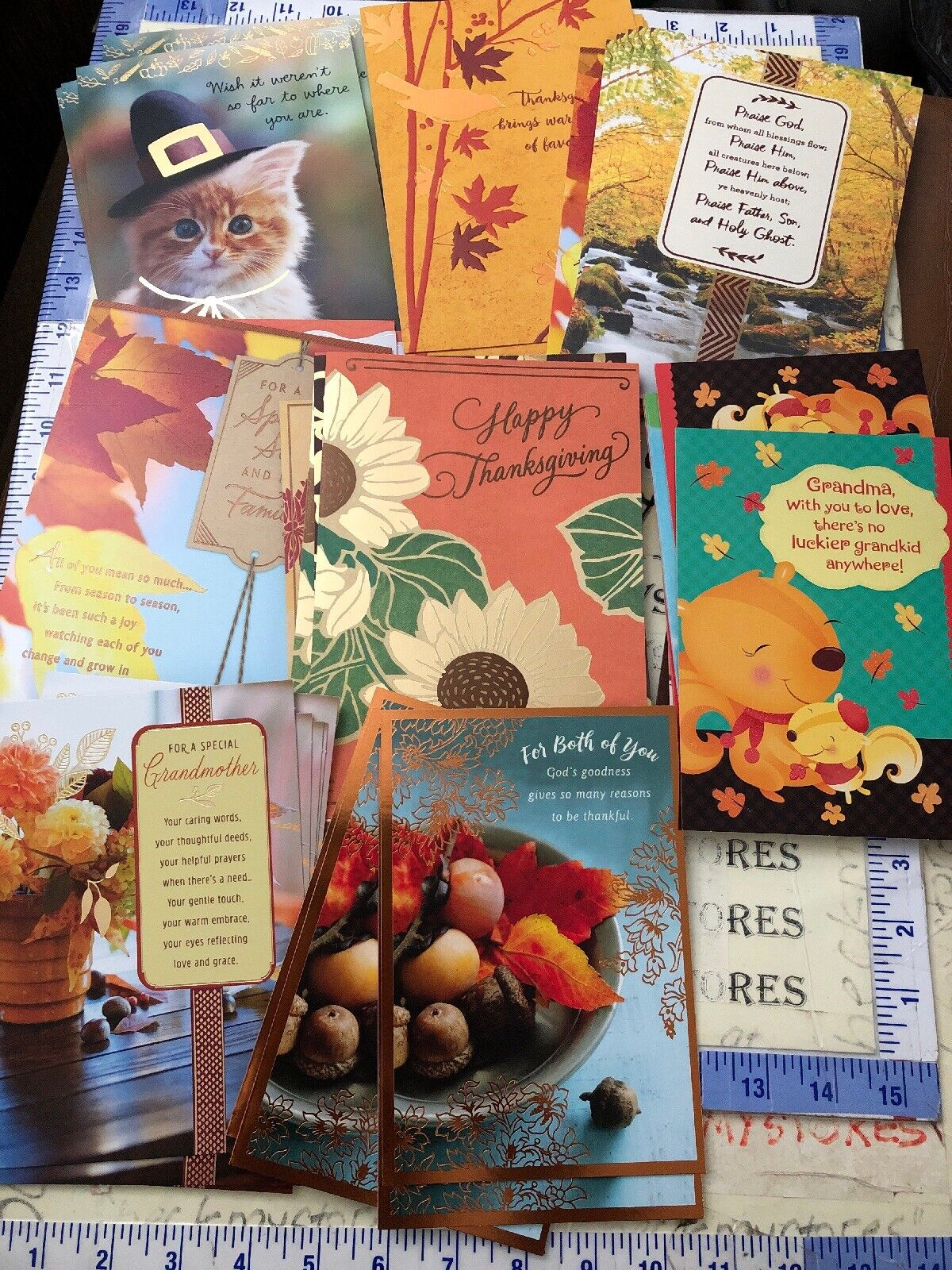 Nouveau 900 + Plus Hallmark Thanksgiving cartes, la plupart taille 4 3 4  X6 7 8  made in USA