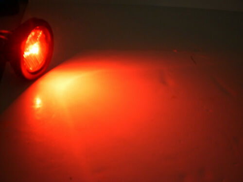 """2/"""" Red Clear Marker LED Light TecNiq Reflective Clearance Trailer RV USA"""