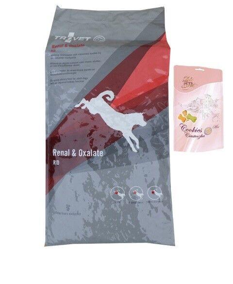 12,5kg TROVET RID per via renale & Oxalate dieta mangime cibo per cani  Lolo BISCOTTI CANI
