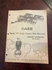 Vintage Case Model N Series Tractor Disk Harrow Part Catalog A492 101952
