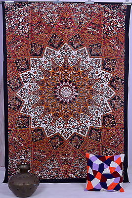 Indian Star Hippie Mandala Bedspread Twin Wall Hanging Tapestry Throw Ethnic Art
