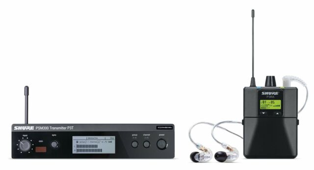 New Shure PSM 300 Stereo Personal Monitor System IEM P3TRA215CL Auth Dealer!