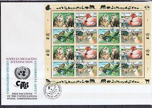 ONU Genève 1998 FDC MiNr. 330-333 espèces menacées ZD-Arc-afficher le titre d`origine HUGBiQUl-07155552-579219114