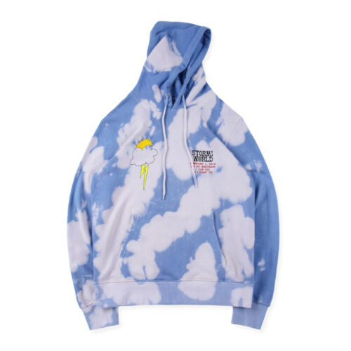 INS Astroworld Travis Scott TOUR Birthday Party Hoodie Tie Dye Unisex Coat