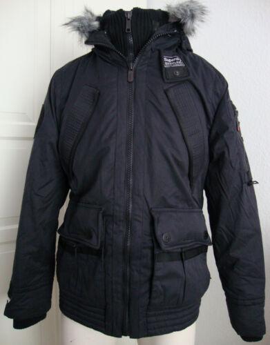 Waxjacke Jacket Winterjacke Superdry s New Parka Gr Schwarz Men Hood Patrol qwwtYI