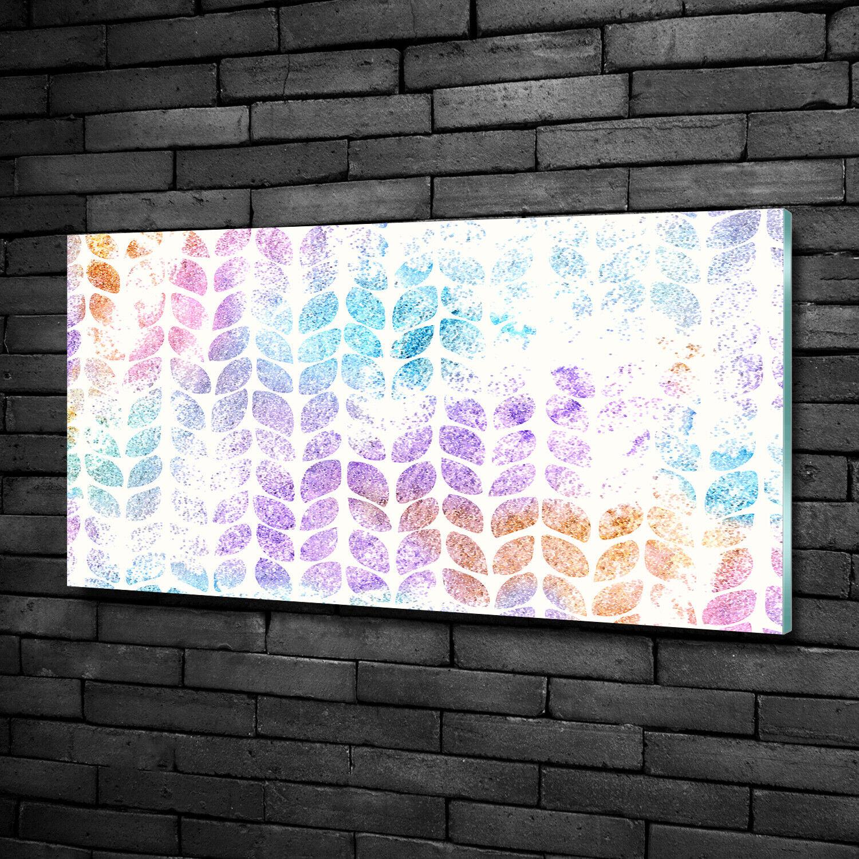 Wandbild aus Plexiglas® Druck auf Acryl 100x50 Blaumen & Pflanzen Bunte Blätter