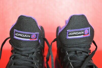 Jordan Jumpman Team Ii Gp Kid's Shoes Black/ember Glow/purple Size 3y Non-Ironing Unisex Shoes