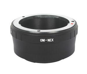 Olympus-OM-an-Sony-E-Mount-Adapter-Olympus-OM-Objektiv-an-Sony-NEX-UK-Verkaeufer