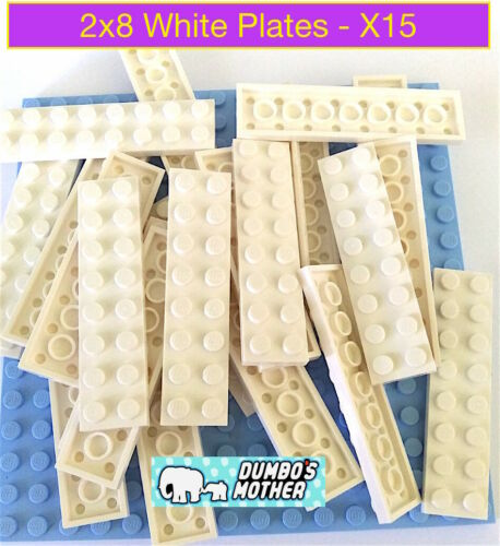Lego 2x8 White Plate Plates building NEW Sold in lots of X15