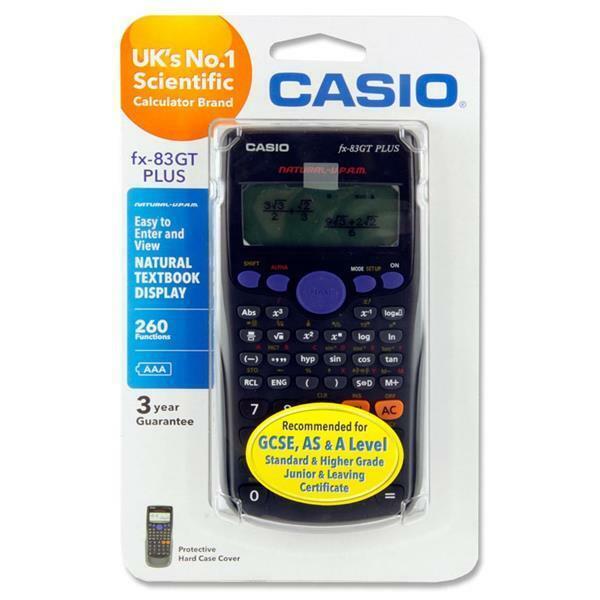 Casio FX-83GT PLUS 260 Functions Scientific Calculator Black Colour - UK - NEW