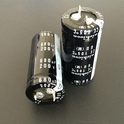 3 un 680uF 200V Japón Nichicon Gu 22x45mm 200V680uF Snap-in de condensador