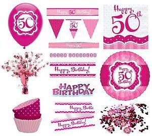 Das Bild Wird Geladen Perfekt Rosa Maedchen Alter 50 Froh 50th Birthday