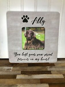Dog-Memorial-Gift-Picture-Frame-Pet-Memorial-You-Left-Your-Paw-Print-Forever