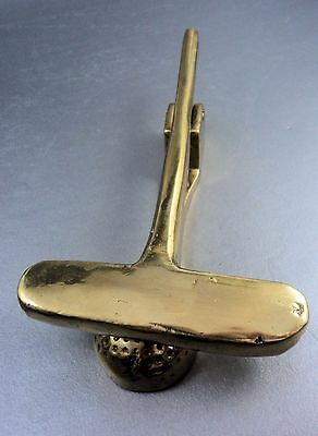 Vintage Brass Door Knocker Golf Club And Ball