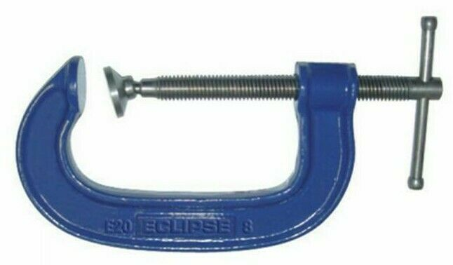 Eclipse CAST IRON G-CLAMP Twin Start Rolled Acme Thread- 200mm Or 300mm