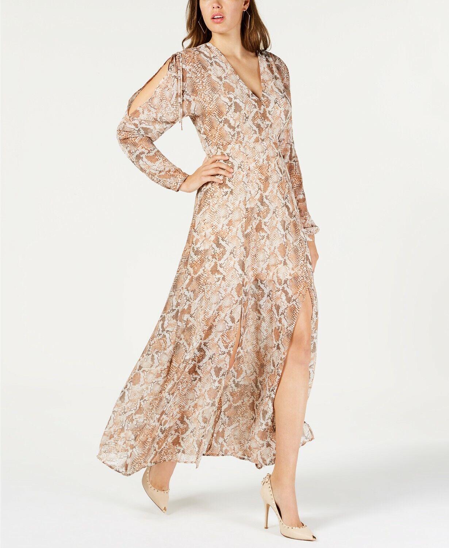 2244012e7cef GUESS Snake-Embossed Maxi Wild Snake Print Size XL Dress nnxvyd5155-Dresses