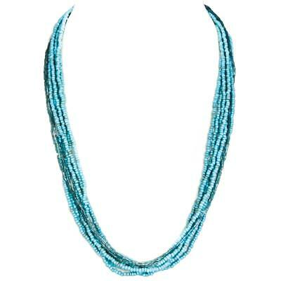Turquoise Aqua Blue Seed Bugle Beads