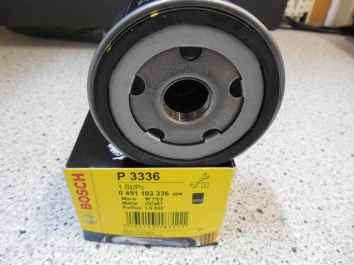Original Bosch Filtre à huile 0451103336 oc467 alt oc309 w75//3 RENAULT 7700695804