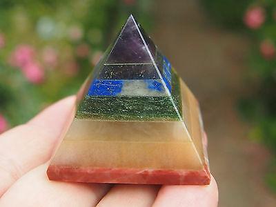 Bonded 7-Chakra Healing Pyramid