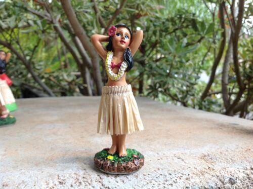 """Dashboard Aloha Doll Hula Girl Hawaiian Car Dance Polyresin 4/"""" Tall   #40795"""