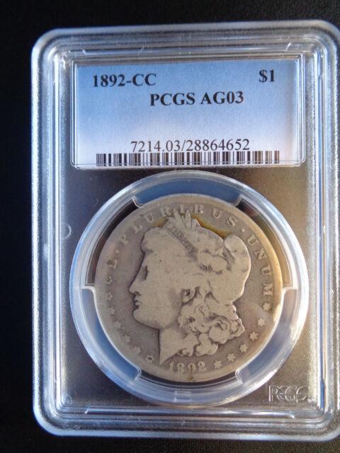 1878-1892 Morgan Silver Dollar 1 Coin CC Carson City Mint $1 AG-VF F Liberty