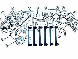 s l300 pontiac chevy gm ford mopar wiring harness straps 2 1 4\