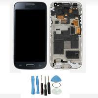Für Samsung Galaxy S4 Mini i9195 Komplett LCD Display Touchscreen Rahmen blau