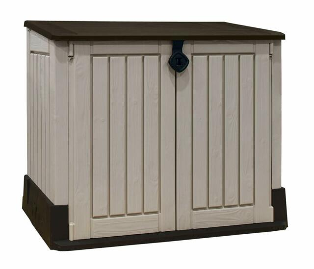 Sensational Outdoor Garden Patio Storage Box Container Chest Large Plastic Mini Shed Unit Download Free Architecture Designs Terstmadebymaigaardcom