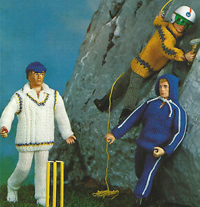 Free Knitting Patterns For Action Man Dolls : DOLLS CLOTHES ACTION MAN 3 OUTFITS KNITTING PATTERN (1008) eBay