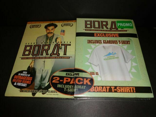 Sacha Baron Cohen Borat 2 Pack DVD With Glorious XL T ...