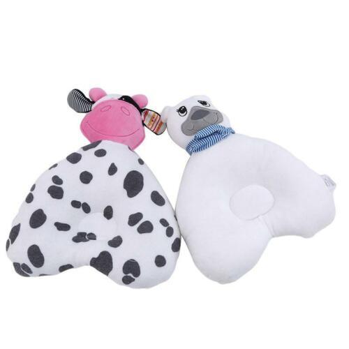 Prevent Flat Head Infant Baby Pillow Plush Animal Cushion Sleeping Support LA