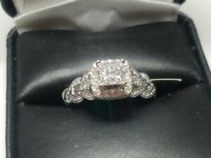 Engagement-Wedding-For-Women-Ring-2-Ct-Princess-Cut-Diamond-14K-White-Gold-Over