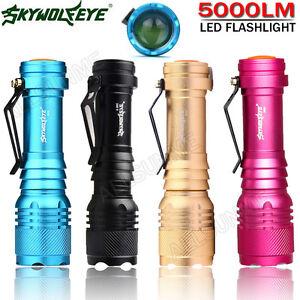 3 Farben Super Helle 5000LM AA//14500 3 Modi Zoombare wasserdichte LED-Tasch