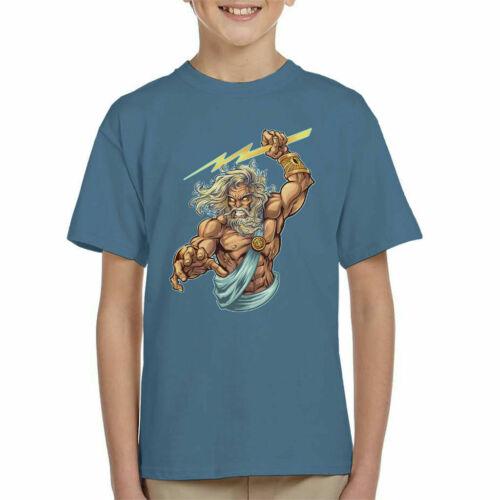 Zeus Lightning Boulons KID/'S T-Shirt