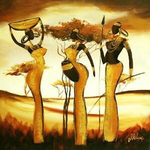 Afrika-Olbilder-Keilrahmen-Gemaelde-Leinwand-Olbild-Bild-Bilder-G00541