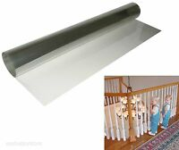 Kid Baby Banister Gate Roll Clear Plastic Guard Stairway Safety Shield Protector