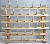 June Taylor Sewing Notions Thread Cone Rack 33 Spindles Wood Rack, Jt680