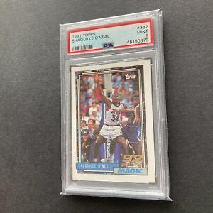 Shaquille O'Neal Shaq 1992 Topps #362 Orlando Magic RC Rookie Card PSA 9 Mint 🔥