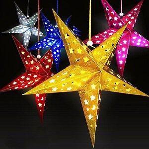 3D Laser Lampshade Lantern Xmas Wedding Home Party Bar Hanging Decor Paper Star Home, Furniture & DIY Home Lighting