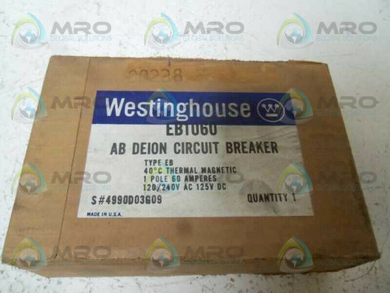 WESTINGHOUSE EB1060 CIRCUIT BREAKER 60A  NEW IN BOX