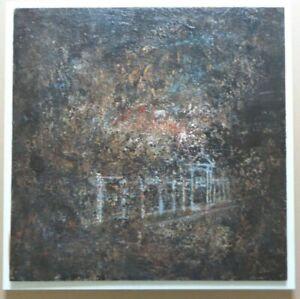 KAREL DIERICKX (1940-21014) / HERINNERING / OLIEVERF PANEEL / 46x46cm / SIG 1993