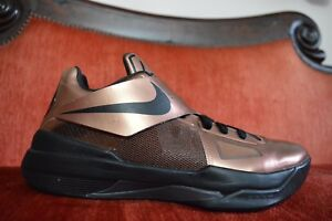 4079d7518aa Nike Zoom KEVIN DURANT KD IV 4 CHRISTMAS BRONZE GOLD BLACK RED ...