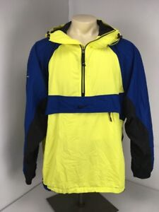 ebbdf654ad Image is loading NIKE-VTG-90s-ACG-Hooded-WINDBREAKER-Jacket-YELLOW-