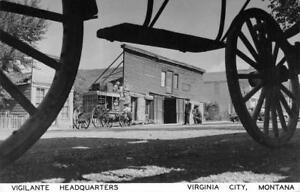 RPPC-Vigilante-Headquarters-VIRGINIA-CITY-Montana-Old-West-Town-Vintage-Postcard