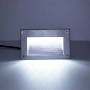 3w Led Outdoor Wall Spot Light Decor Recessed Steps Lamp Mounting Box S Cottage Ebay