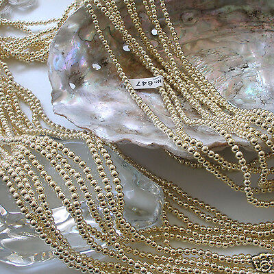 "Oat Rice Beads 60/"" Strands Japanese 3mm x 6mm LIGHT Gold Faux Pearls Style"