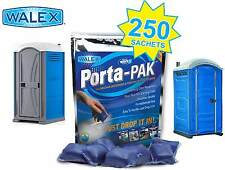 PORTA-PAK drop-in sachets Qty 250 Full Case / Portable Toilets / Welfare units