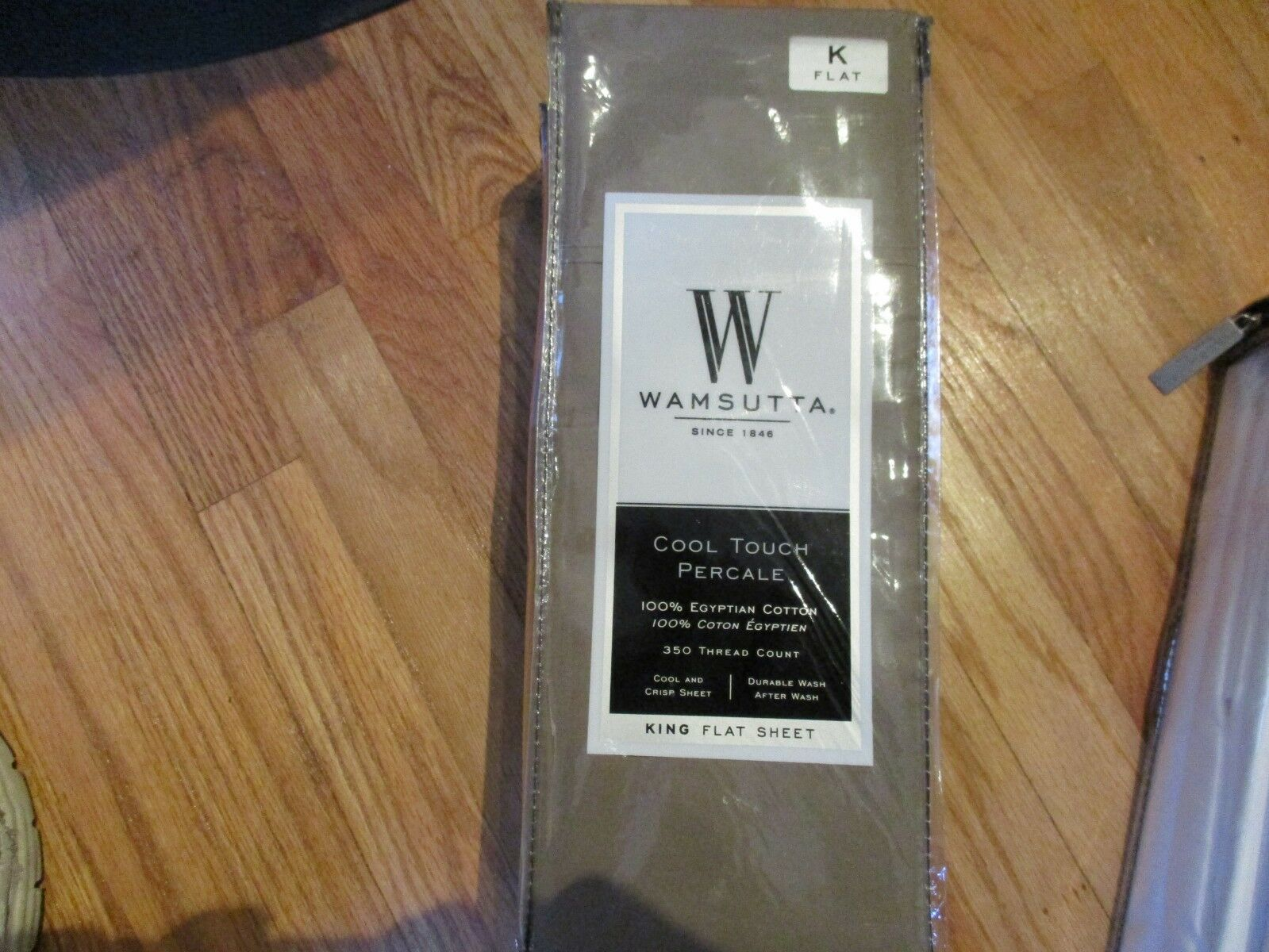 Wamsutta Cool Touch Percale CANVAS KING Flat Sheet 350ct 100% Egyptian CottonNEW