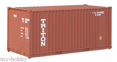 MAB++Walthers HO 20/' Ribbed-Side Container Evergreen 949-#8002