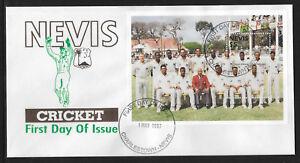 NEVIS-1997-CRICKETERS-CRICKET-SOUVENIR-SHEET-FDC-No-2